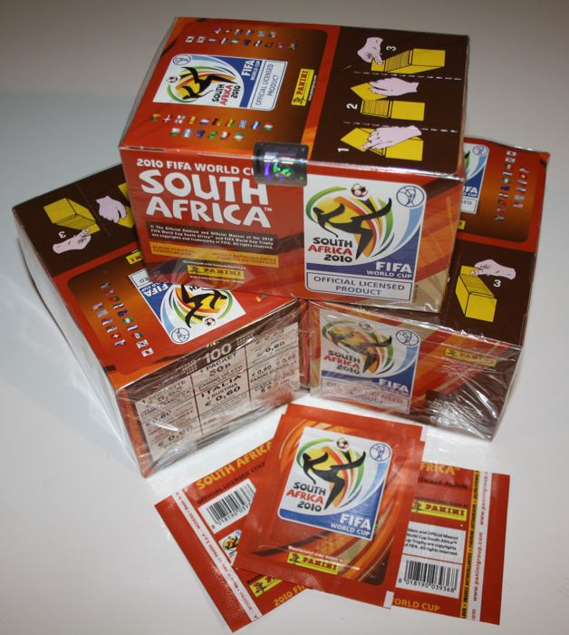 Panini - World Cup South Africa 2010 - 3 x ongeopende originele boxen + 3 x extra losse zakjes.