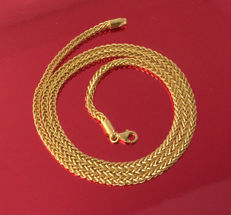 18k/750 Yellow Gold Necklace Palm-Flat - 55 cm - 8.10 gr ///No reserve price///