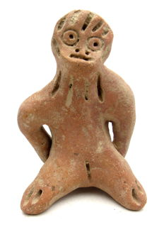 Indus Valley Terracotta Monkey Idol/Rider Figurine - 90mm