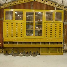 Very Large Groceries Cabinet - Belgium - ca. 1910