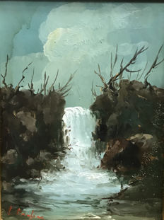 Unknown artist (20th century) Cascata