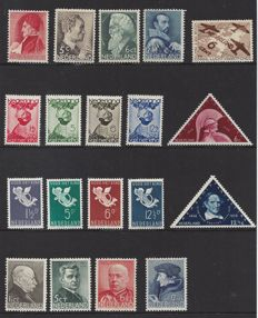The Netherlands 1935/1936 - two complete years - NVPH 274 to 292