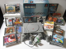 Playstation 1 Value Pack boxed with 2 controllers and 20 games