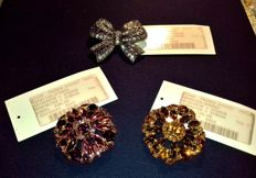 Franco Giazzi Brooches with Strass & Miss June Bow - Jewelry