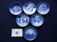 Collection of 6 plates from Copenhagen porcelain - Denmark - rare