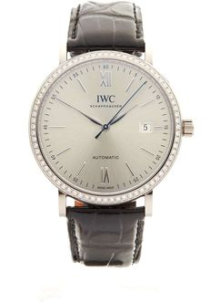 IWC - IWC Portofino 18kt White Gold Diamonds - IW356514 - Unisex - 2016