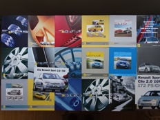 1998 - 2007 -  RENAULT SPORT Clio 2.0 16v, Clio 172 Cup, Clio 3.0 V6 24v, Megane 2.0 Turbo 16v, Megane Trophy, Megane F1 Team & Clio F1 Team - Mixed lot of 19 original sales brochures