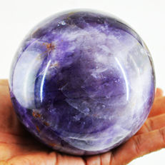 "Top Color Rare Patterned Amethyst ""healing ball"" - 92 mm - 1049 gm"