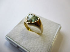 14 kt Yellow Gold Ring with Certified Alexandrite- 1.54 ct