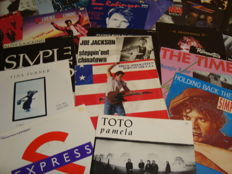 "Big Pack: Collection of 50 7"" singles: Best of The 80's: Bruce Springsteen / Tom Robinson / OMD / ZZ Top/ Simple Minds / Joe Jackson / Madonna / E.L.O.... And Many More!"