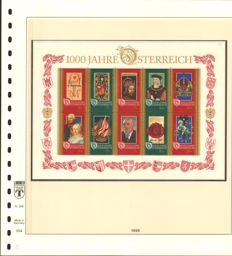 Austria 1991/2000 - Collection in the Lindner printed form album