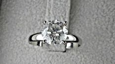 2.10  ct round diamond ring 14 kt gold  *** NO RESERVE PRICE ***