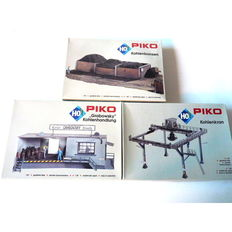 PIKO H0 - 61108/61109/61110 - 3 construction sets - coal trade with bunkers and large portal crane