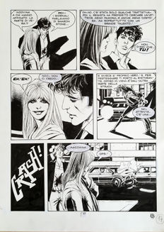 "Roi, Corrado - original plate for ""Dylan Dog"""