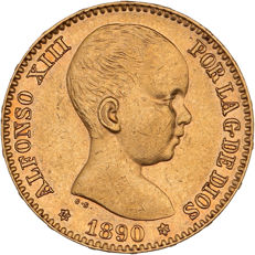 Spain - 20 Pesetas 1980 - Alfonso XIII - gold
