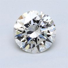1.00 carat K/VVS1, Exc/Exc/Exc Strong Blue
