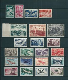 France 1946/1959 - Lot of 22 Air Mail stamps - Yvert PA #16-37