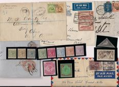 British Commonwealth collection on sheets, stock cards etc., postal items