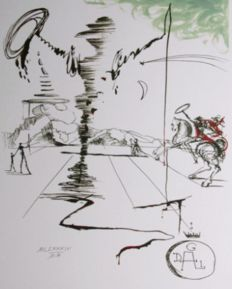 Salvador Dalí (after) - Don Quichotte (Don Quijote)