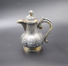 Solid  silver tea pot   , International hallmarked 800