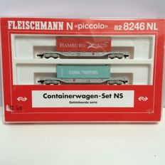 Fleischmann N - 82 8246 NL - container wagon set of the NS