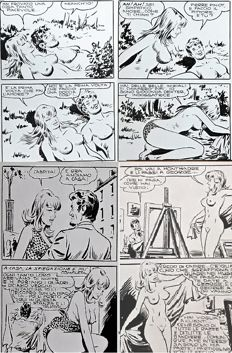 Zuffi, Camillo - 20x consecutive original pages 31/50 Bonnie # 78 (1972)