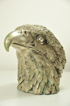 Giant solid Bronze Eagle Head