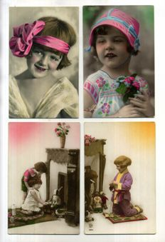 Children's cards Nostalgia period:1900-1930; 110 x