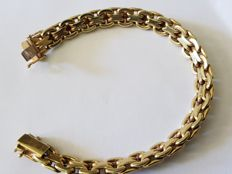 Yellow gold bracelet in 14 carat Length approx. 20cm