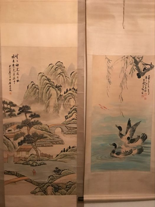 Two ink painting's - China - late 20th century