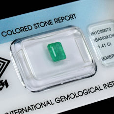 Emerald - 1.41 ct, no reserve price
