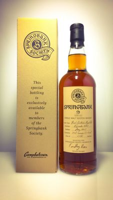 Springbank 2007 Society Bottling