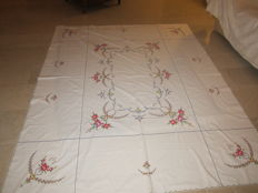 Beautiful hand embroidered tablecloth in new condition