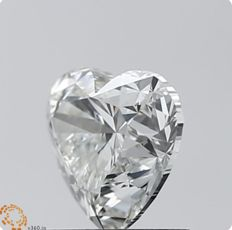 1.01 ct JSI1 Heart Shape Diamond with  GIA -original images # 539