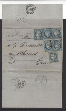 France 1871 – Rare Mixed Franking of Emission Siege and Third Republic Ceres Issues