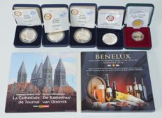 Belgium - Batch of various coins and year sets.