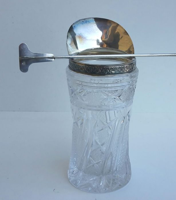 Cocktail shaker in Crystal and Silver Florence 1950