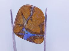 Fine Electric  colors - Untreated 100% Natural Australian Boulder Opal Fancy Cab - 13.78 ct - 25.5x19.7x3.4 mm