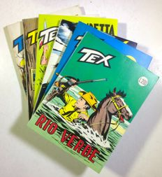 Giant Tex - 6x albums - issues nos. 86, 90/94 - 1st edition (1967-68)