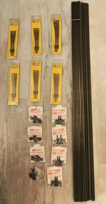Peco N - SL-300F/-E387F/-E391F/-E392/-330/-340 - 13x flexible rails, 6x points, 4x buffer blocks and 4x uncoupling rails