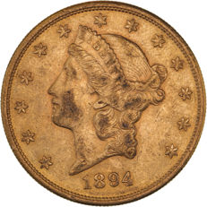 United States - 20 Dollars 1884 S (San Francisco) 'Liberty Head' - gold