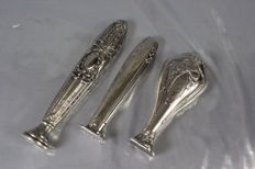 Silver Filled Seal Stamps (Lot Contains 3). France 19th Century or Early 20th Century