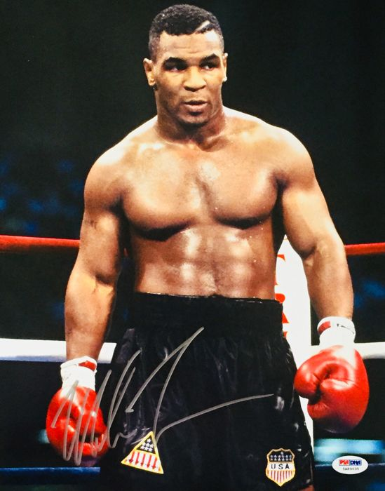 Mike Tyson /  Original Authentic  Professional Signed Photo ( 28x35cm ) - with Certificate of Authenticity PSA/DNA