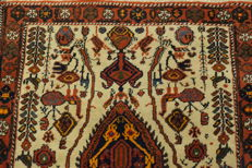 Collector's item, hand-knotted Persian carpet, Qashqai, made by nomads, wool on wool, made in Iran, 65 x 80 cm