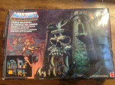 Masters of the universe - castle grayskull with original box - 1980 - leading star He-man (including He-man and skeletor)