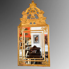 Gilt wood wall mirror - Italy - late 19th century