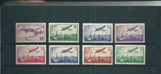 France 1934/1936 - Louis Bleriot Air Mail and Plane over Paris series - Yvert PA #7-14