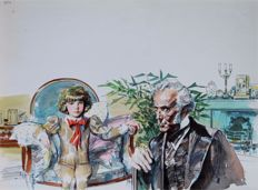 "Renna, Gianni - original illustration for ""Il Piccolo Lord"""
