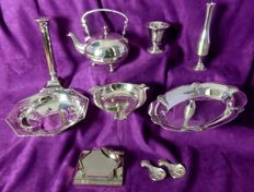 Lot of 13 several silver plated objects