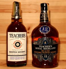 2 bottles - Teacher's 12 years old Royal Highland de Luxe  + Teacher's Highland Cream